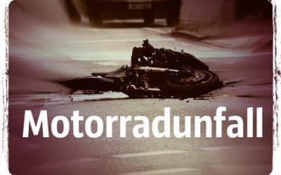 Motorradunfall, bewußtloser Kradfahrer, Erste-Hilfe